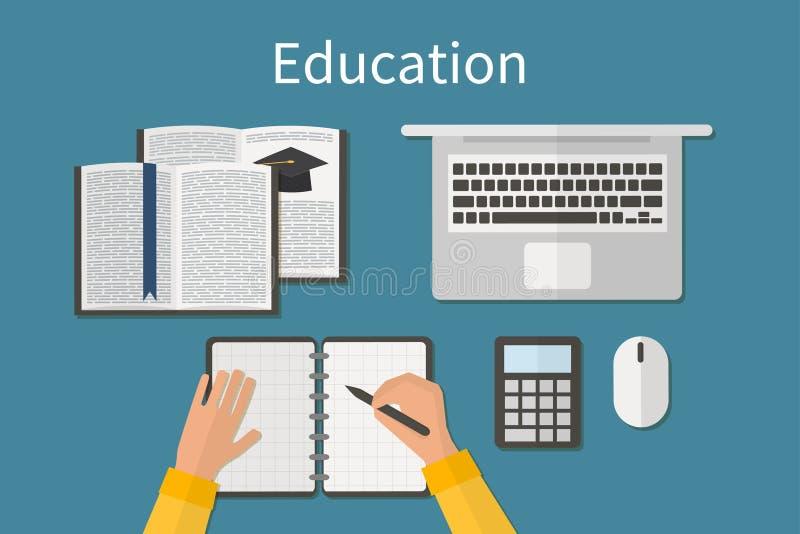 workplace Niekończący się edukacja Stażowy i online ilustracja wektor