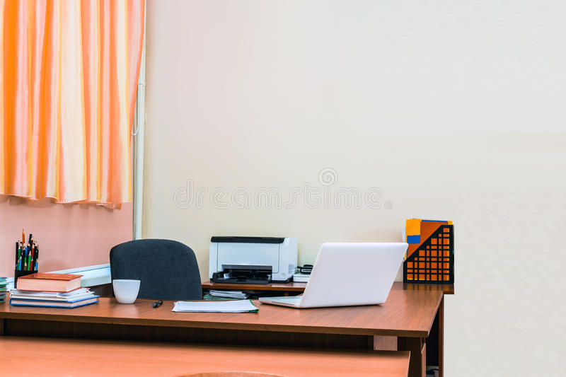 Workplace in office stock image