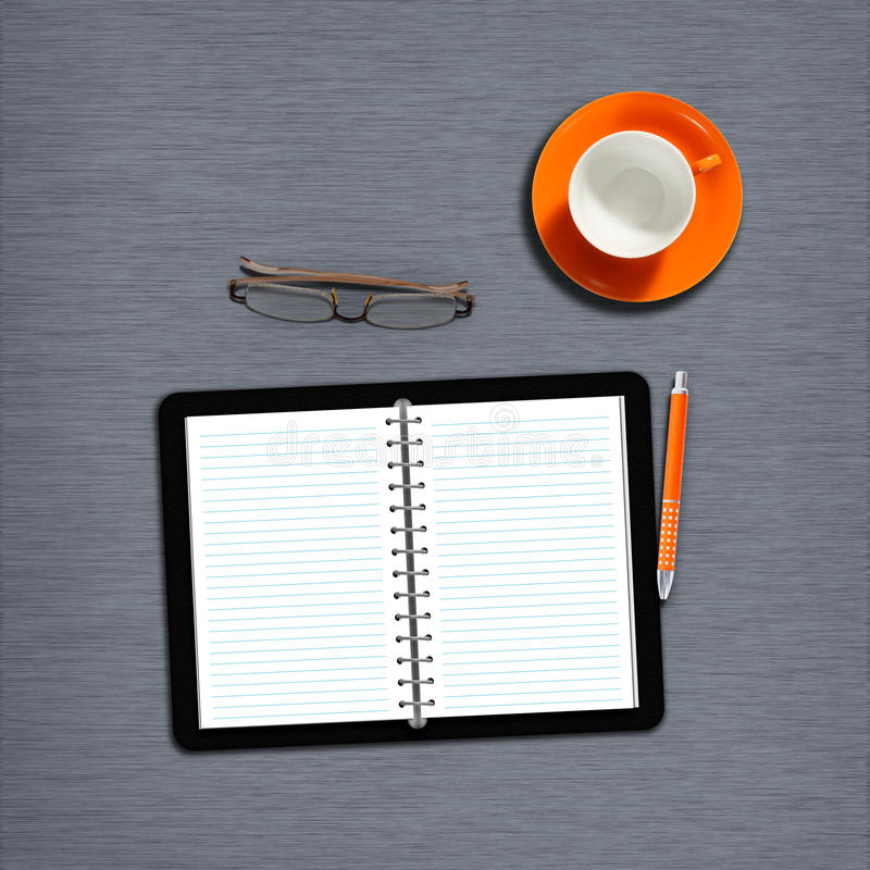 Download Workplace2 stock illustration. Image of blank, open, calendar - 15640898