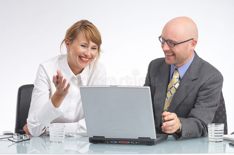 Download It works!!! stock photo. Image of businessman, notebook - 1411774