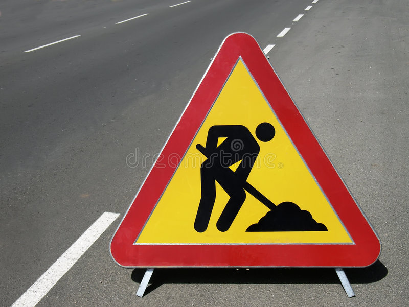 Works Ahead Stock Photography