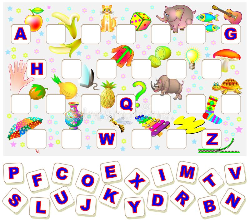 Worksheet For Children With Exercise For Study English Alphabet. Find The Missing  Letters And Write Them In Relevant Places. Stock Vector - Illustration Of  Line, Hide: 103386182