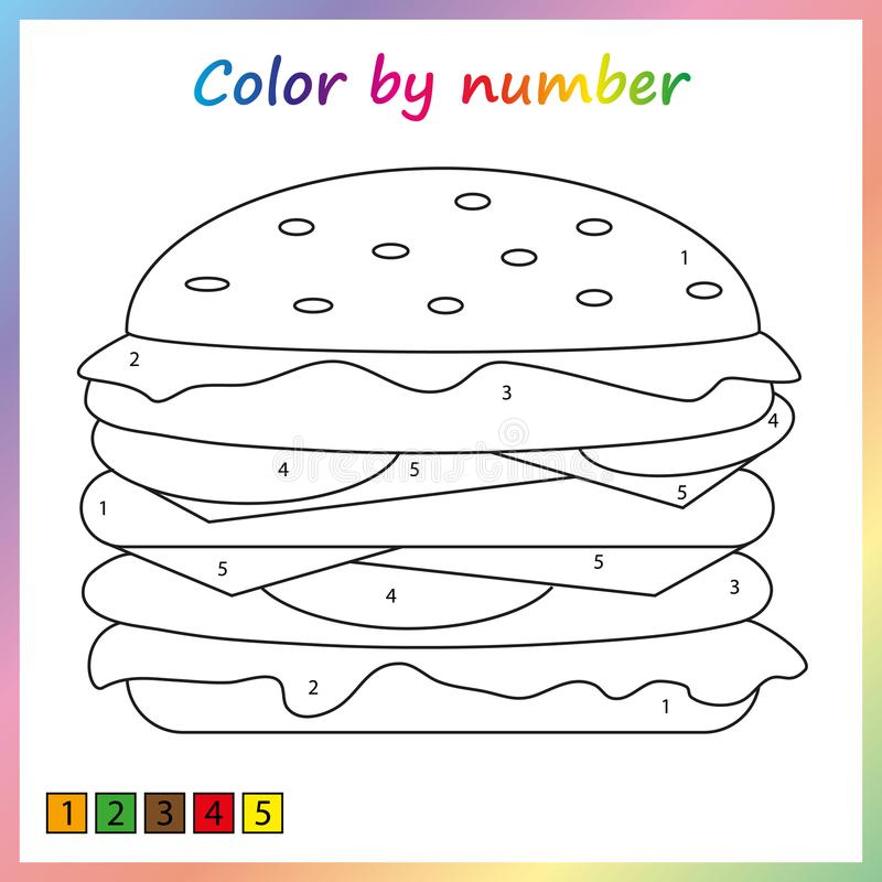 Worksheet For Education. Painting Page, Color By Numbers. Game For  Preschool Kids. Stock Vector - Illustration Of Competition, Guess: 123439540