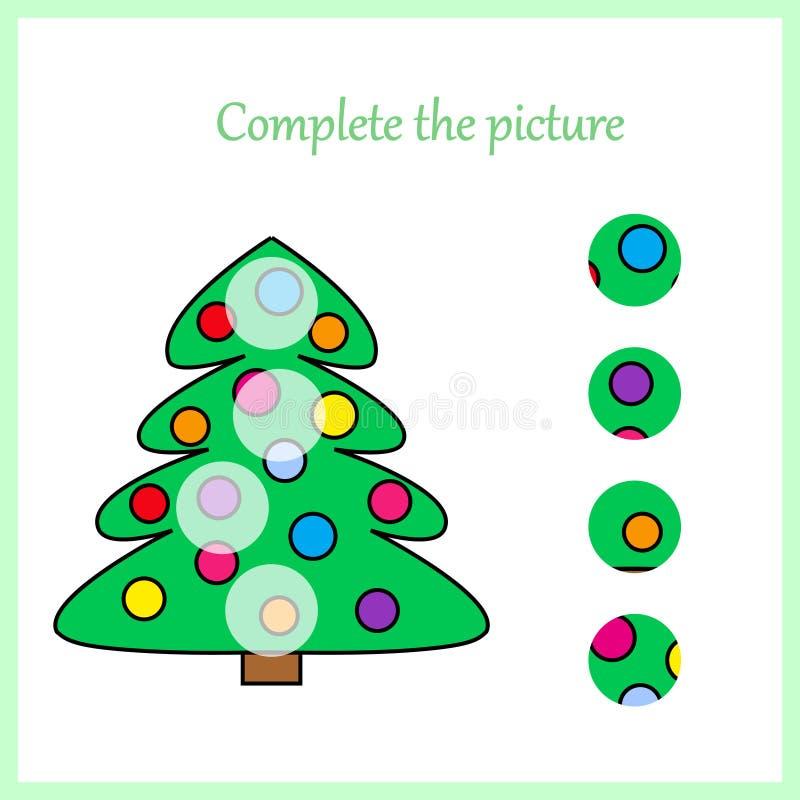 worksheet Puzzle visivo di logica: Trovi il pezzo mancante - imbarazzi il gioco per i bambini, bambini royalty illustrazione gratis