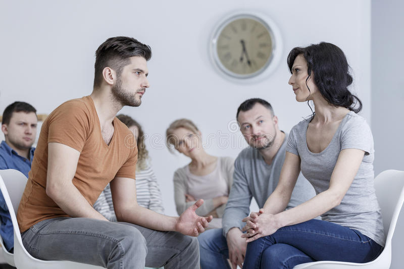 Workshop for couples stock image