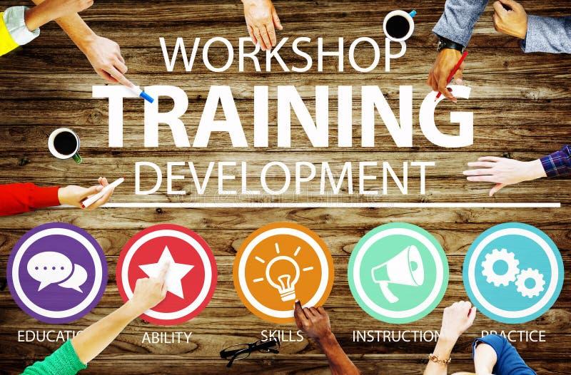 Workshop het Concept van de de Ontwikkelingsinstructie van het Opleidingsonderwijs royalty-vrije stock fotografie