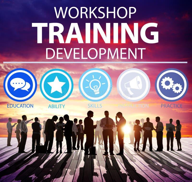 Workshop het Concept van de de Ontwikkelingsinstructie van het Opleidingsonderwijs royalty-vrije stock foto