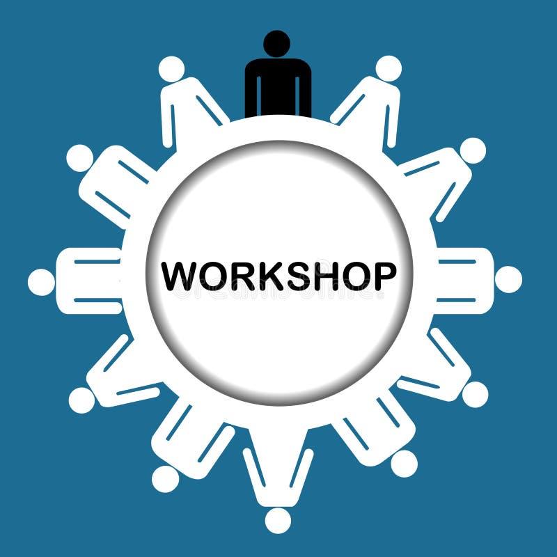 Workshop icon. Illustration of workshop icon isolated over white background royalty free illustration