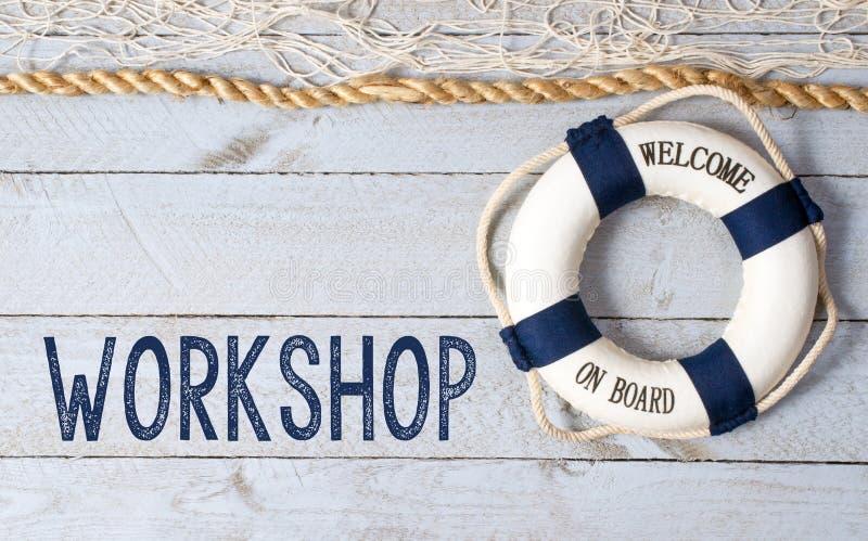 Workshop - Onthaal aan boord stock foto