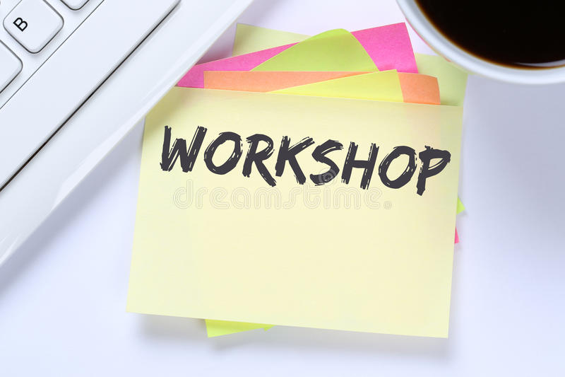 Workshop opleiding het leren het onderwijszaken i van het het onderwijsseminarie royalty-vrije stock afbeeldingen
