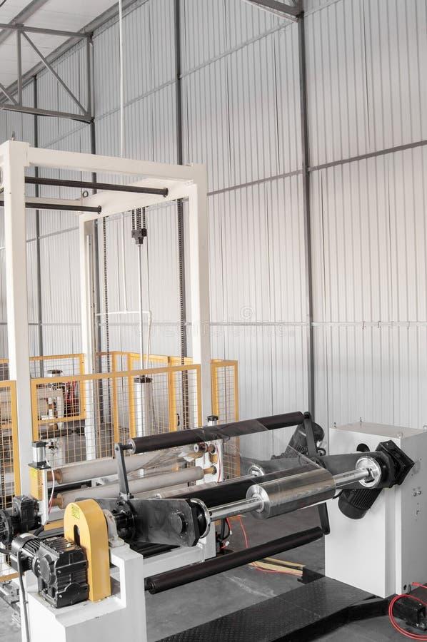 Workshop for production of polypropylene and polyethylene. Workshop and equipment for the production and fabrication of durable polyethylene and polypropylene stock photo