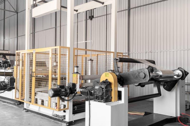Workshop for production of polypropylene and polyethylene. Workshop and equipment for the production and fabrication of durable polyethylene and polypropylene stock images