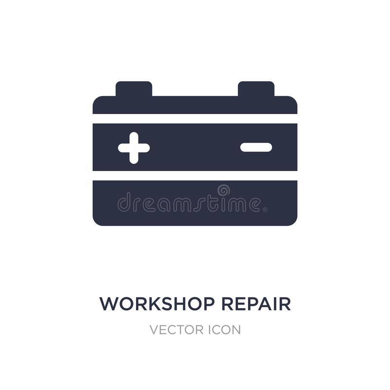 workshop repair icon on white background. Simple element illustration from Transport concept vector illustration