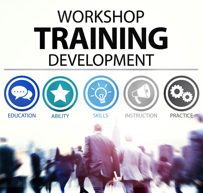 Workshop Training Teaching Development Instruction Concept.  stock photography