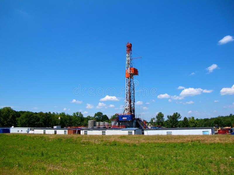 Worksite da perfuração de gás natural
