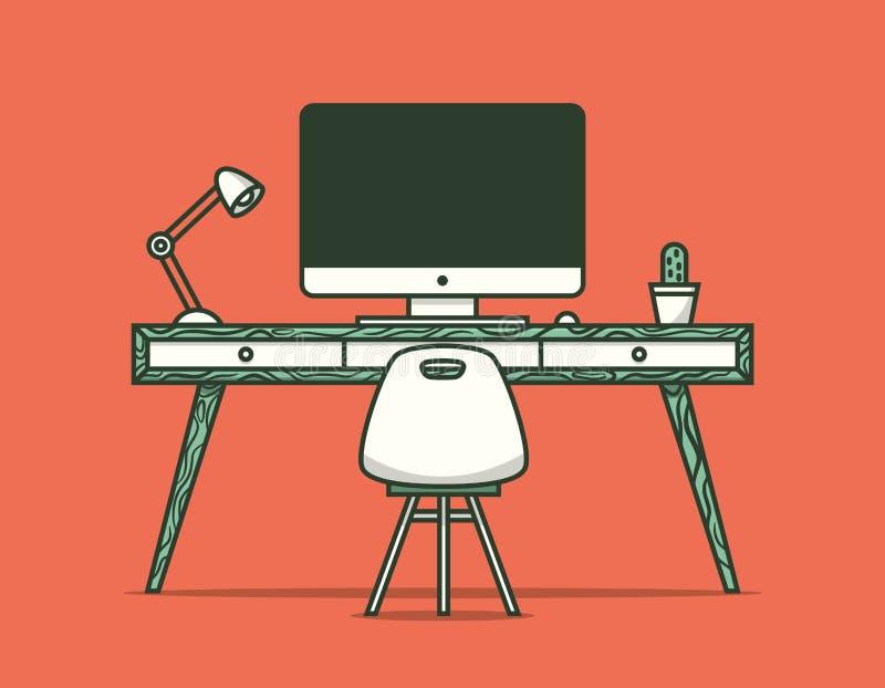 Workspace ilustracja wektor