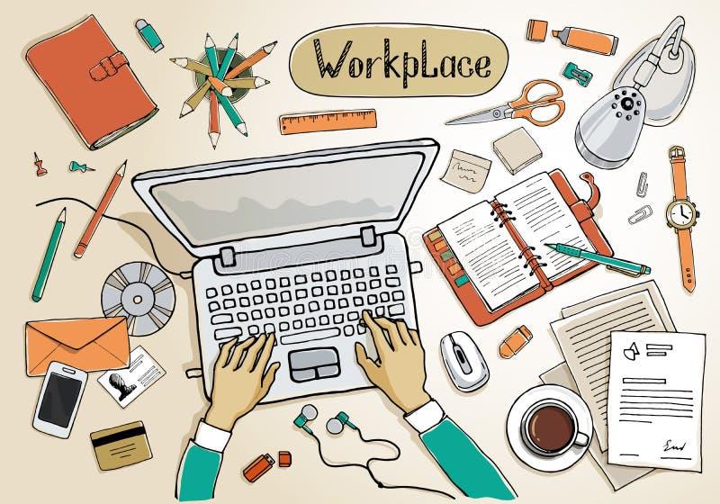 workspace ilustração stock