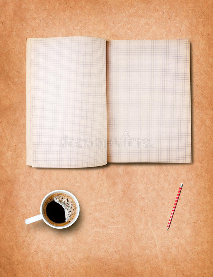 Download Workspace With Coffee Cup And Notebook Stock Photos - Image: 26541903