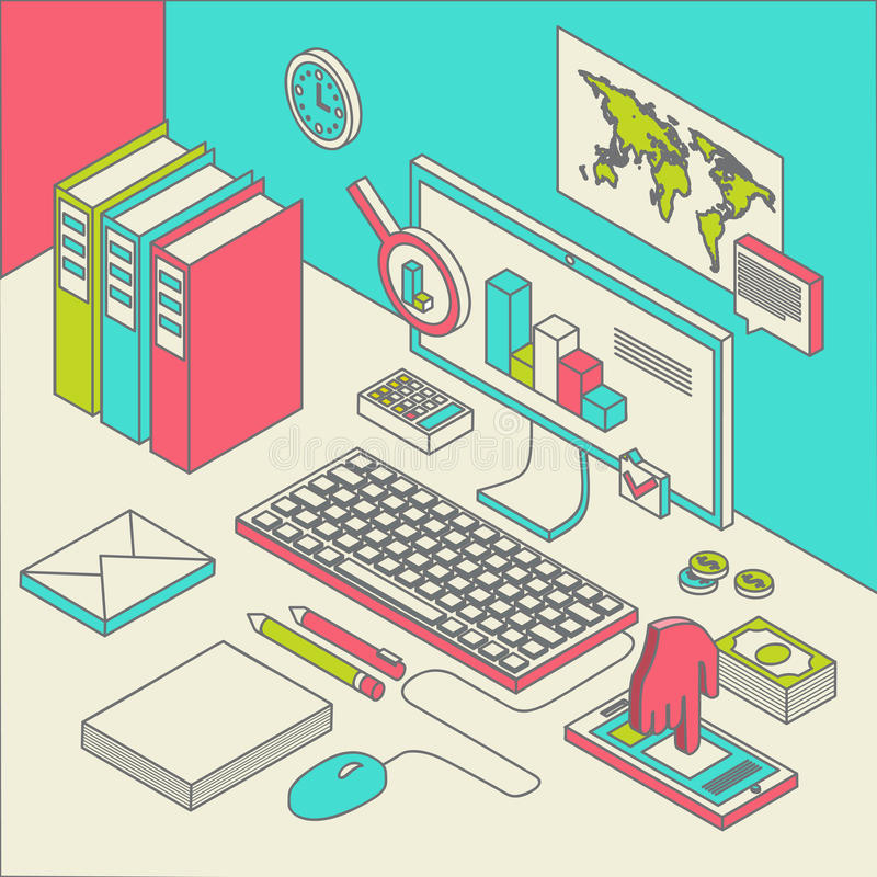 Workspace concept vector vector illustration