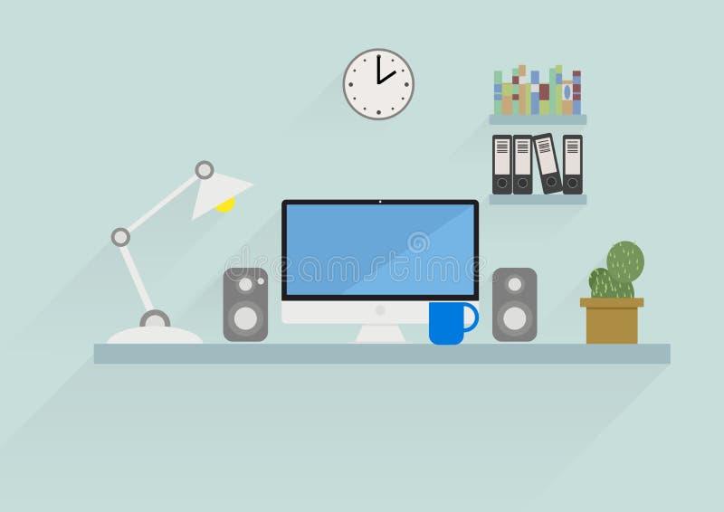 Workspace stock illustration