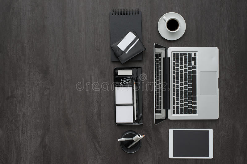 Workspace för företags affär royaltyfri fotografi