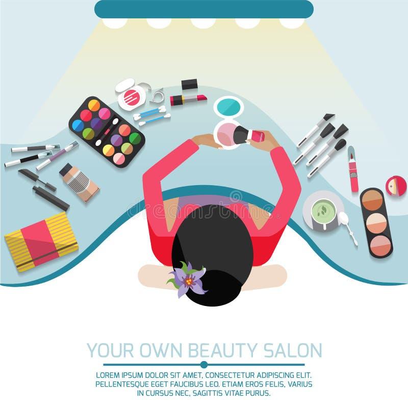 Workspace för makeup arkivbild