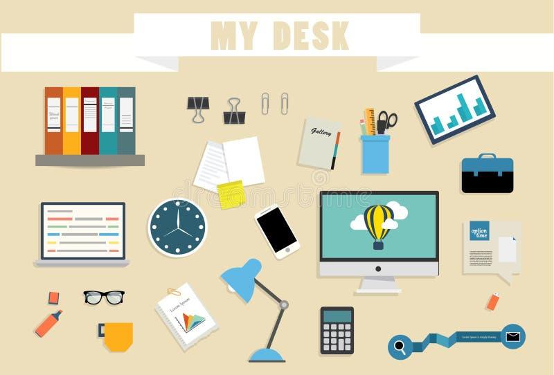 Workspace w pracie zdjęcia stock