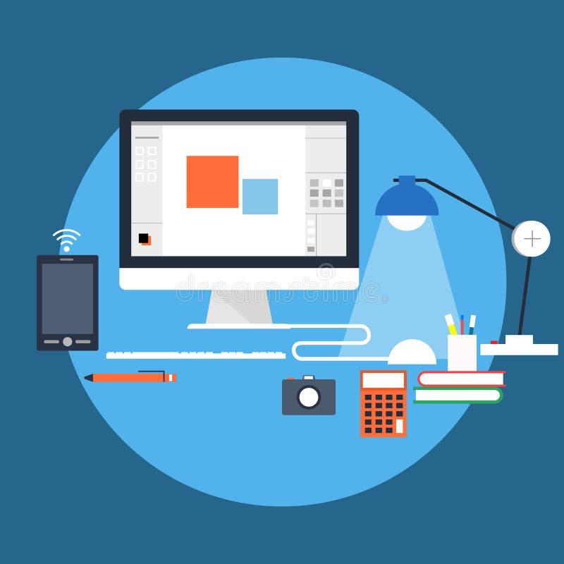 workstation ελεύθερη απεικόνιση δικαιώματος