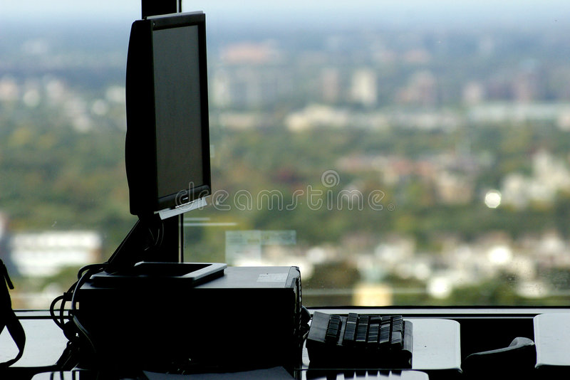Workstation with a view royalty free stock photo