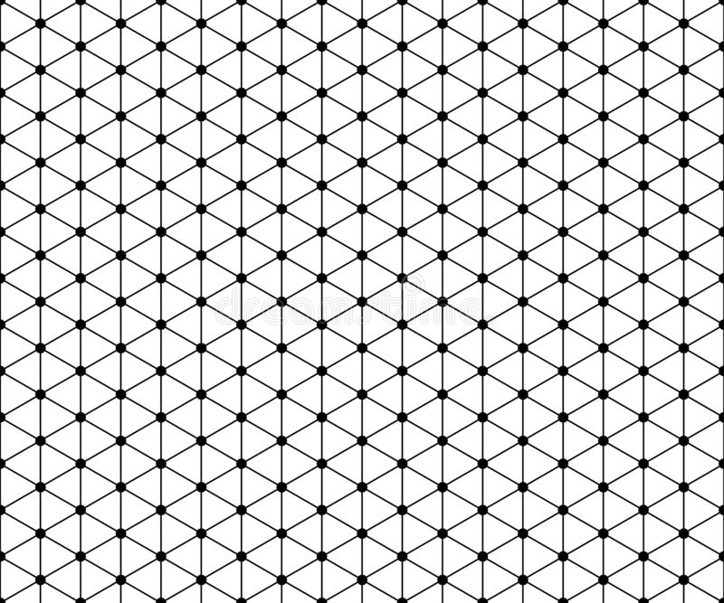 Seamless pattern with triangles and circles royalty free stock photography