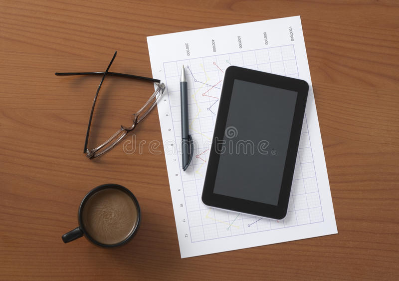 Worktable stock image