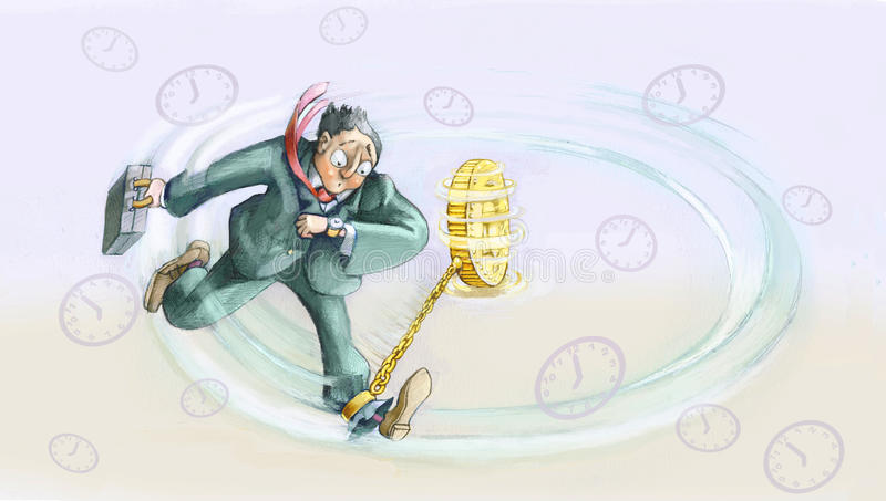 Worktime ilustração stock