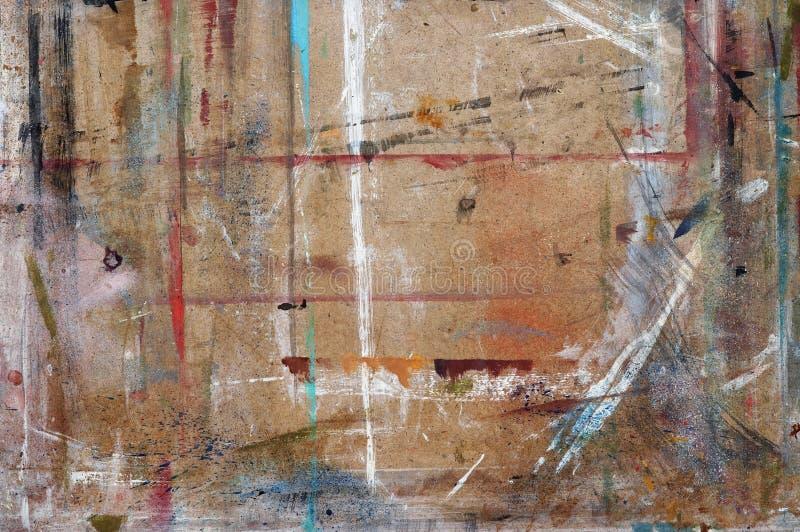 Worktop do pintor fotografia de stock