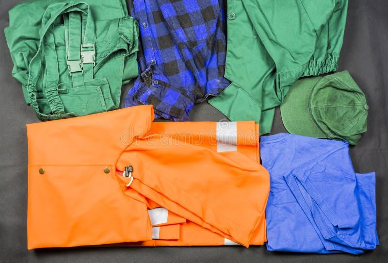 Workwear para el trabajo en la fábrica foto de archivo libre de regalías