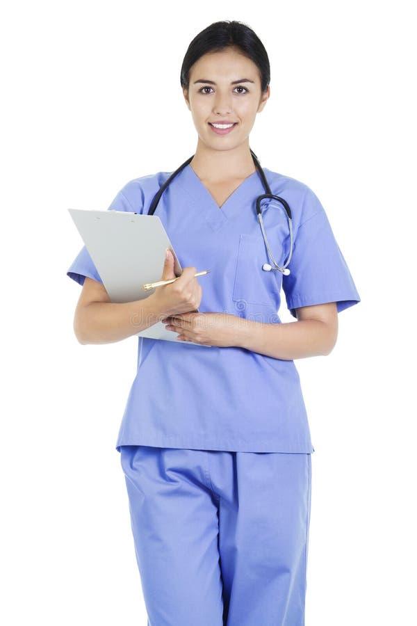 Workwer fêmea dos cuidados médicos imagem de stock