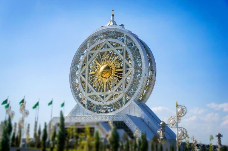 World's最高的弗累斯大转轮白色大理石穿在文化的Alem和娱乐中心 库存图片
