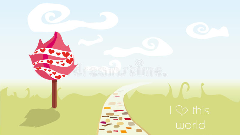 Download World stock vector. Image of light, childhood, pink, desire - 12856649