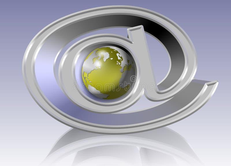 Download At World stock illustration. Image of technology, globe - 22906282