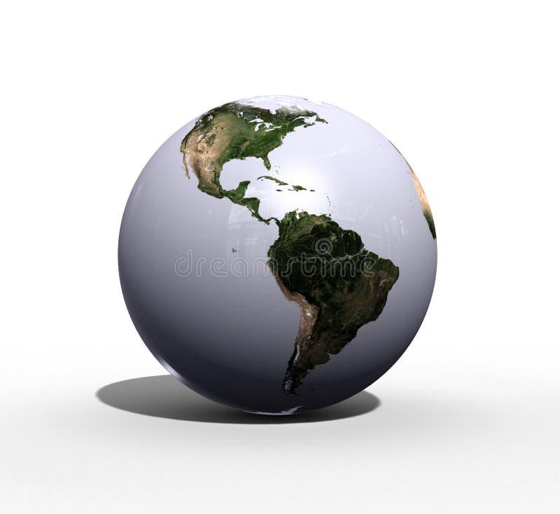 World. A shiniy marble world globe stock illustration