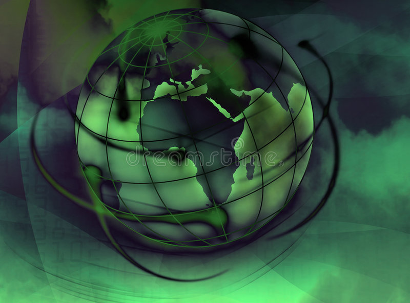 World. Illustrated and painted an abstract colored world stock illustration
