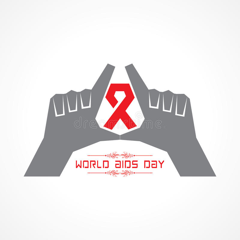 World Aids Day - HIV awareness concept. Stock vector vector illustration