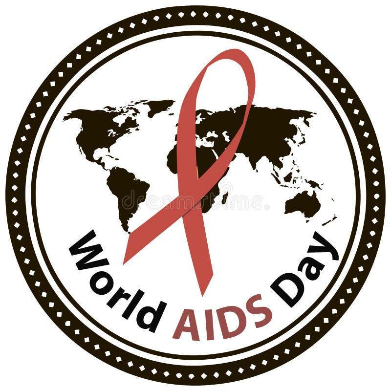 World AIDS Day. Symbol of World AIDS Day, December 1. Vector illustration stock illustration