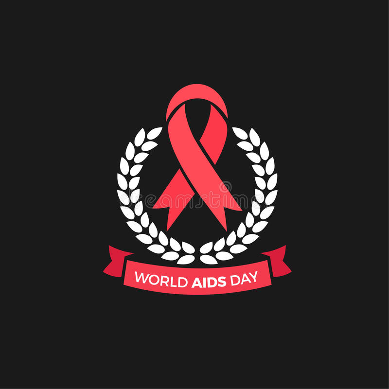 World Aids day Vector Design royalty free stock image
