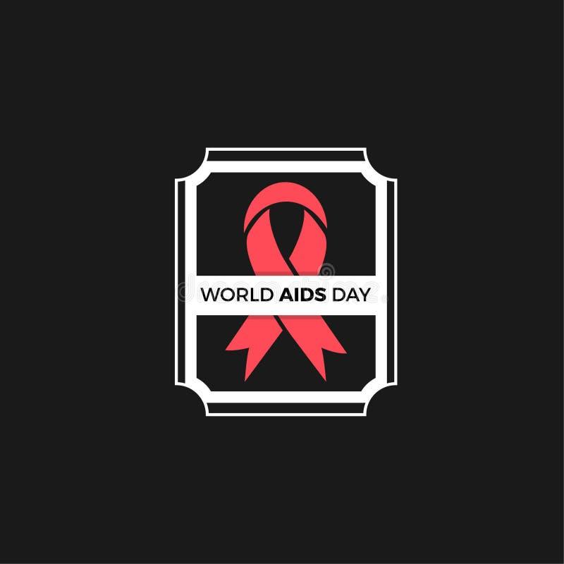 World Aids day Vector Design royalty free stock photos