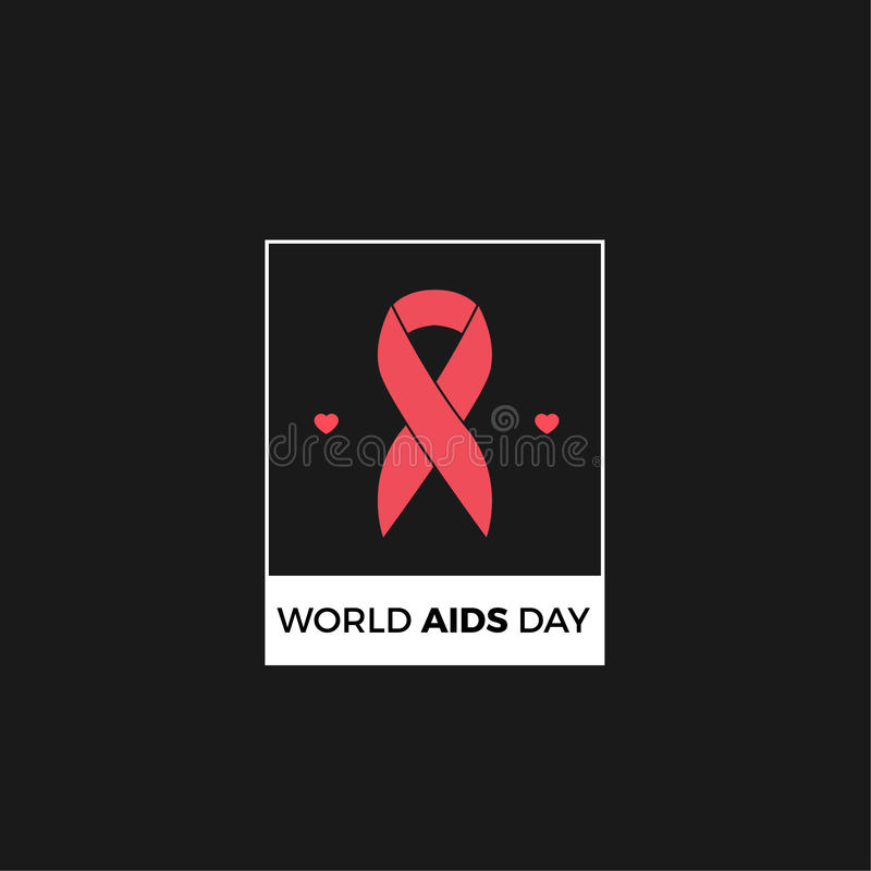 World Aids day Vector Design royalty free stock photography