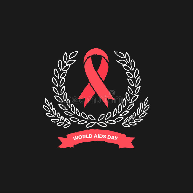 World Aids day Vector Design royalty free stock photo