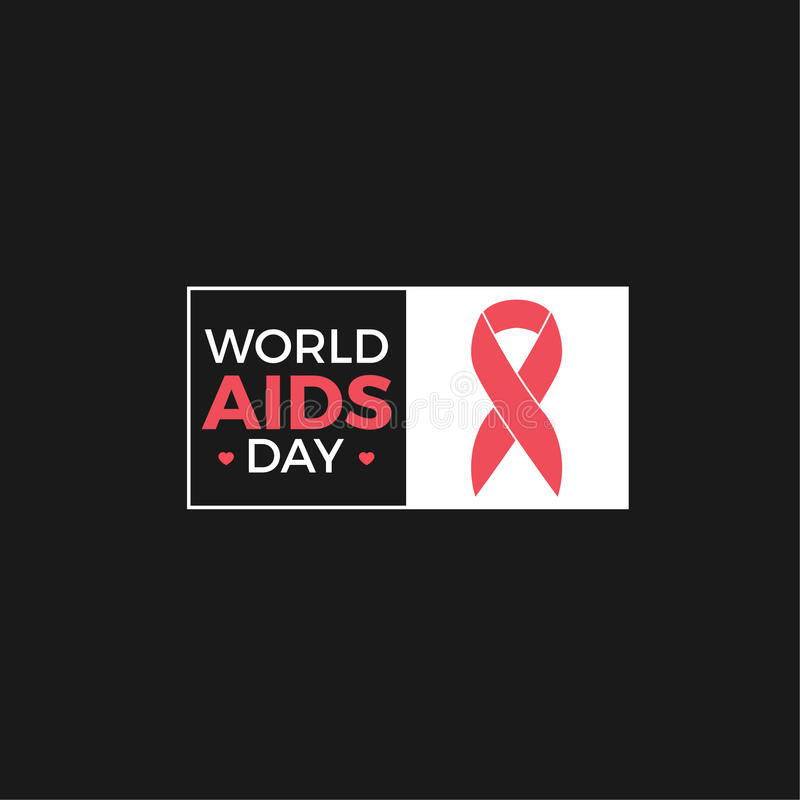 World Aids day Vector Design stock image