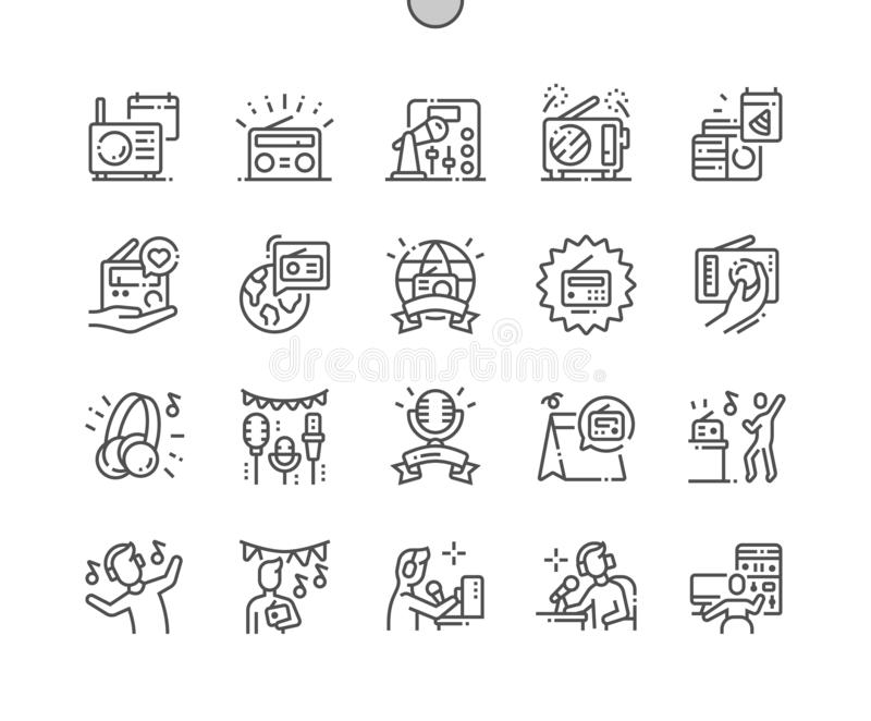 World Amateur Radio Day Well-crafted Pixel Perfect Vector Thin Line Icons vector illustration