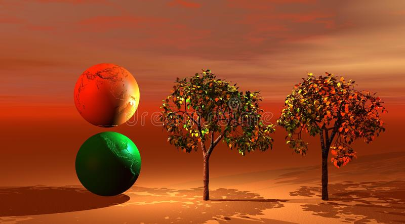 Download World ans trees stock illustration. Image of colorful - 11554090