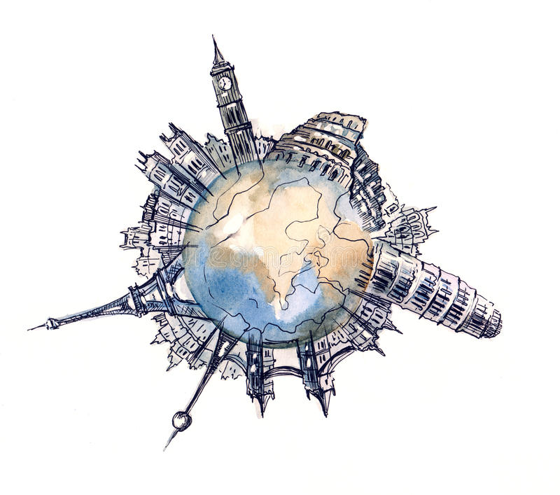 Download World architecture stock illustration. Illustration of globe - 21568132